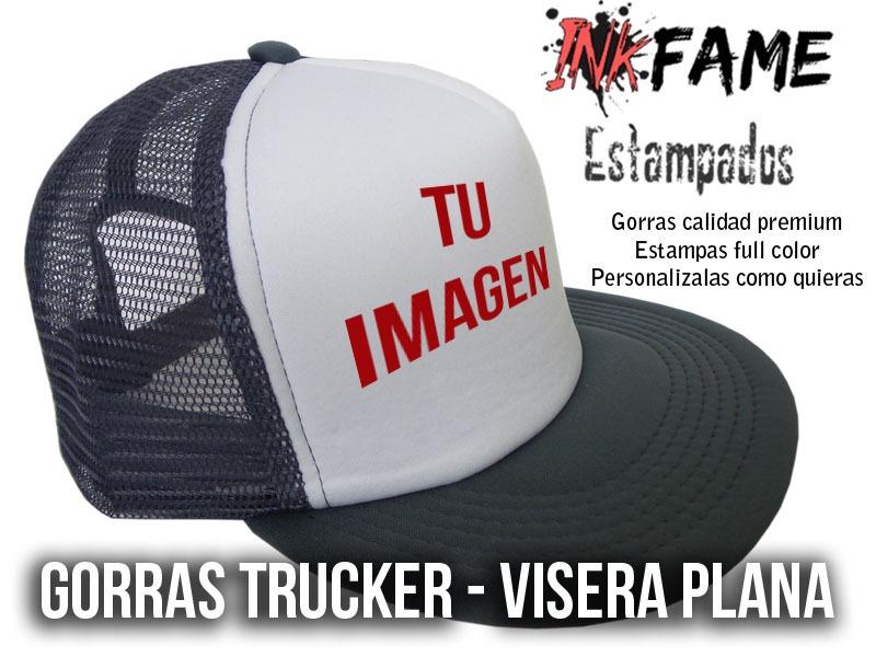 gorra trucker personalizada visera plana premium. Cargando zoom. a7877724e1f