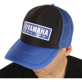 Gorra Trucker Yamaha Racing Azul Y Negra Colección 2019