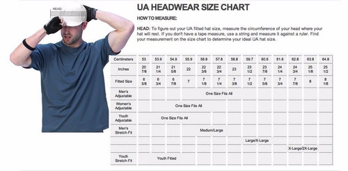 gorra under armour perfomance running golf  m l/xl or. negra