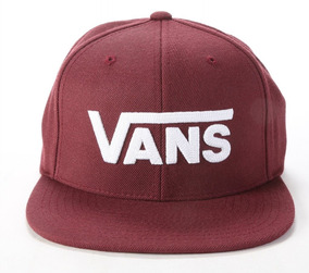2747872f42f2 Gorra Vans Drop V 2-b Vino Con Blanco Plana Cab Look Trendy