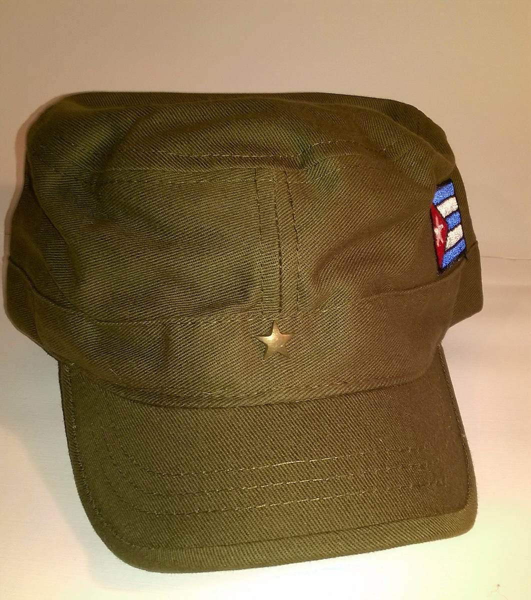 gorra vera navarro modelo militar guevara bandera cuba verde. Cargando zoom. 659c564830c