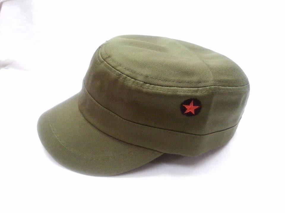 21fd1836a25d0 gorra visera corta stilo cubano verde con estrella roja. Cargando zoom.