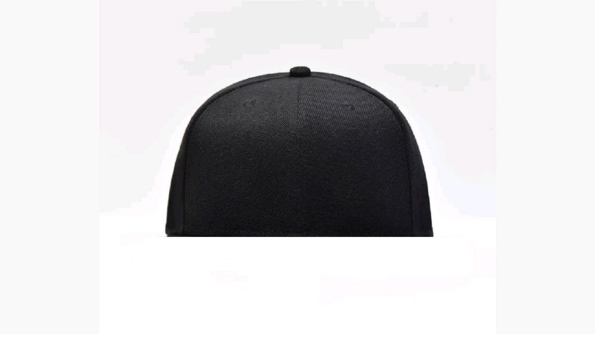 gorra visera plana lisa tipo snapback cerrada negro premium. Cargando zoom. ed8e879f8e4