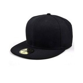 Gorra Visera Plana Lisa Tipo Snapback Cerrada Negro Premium ... 558c0448bab