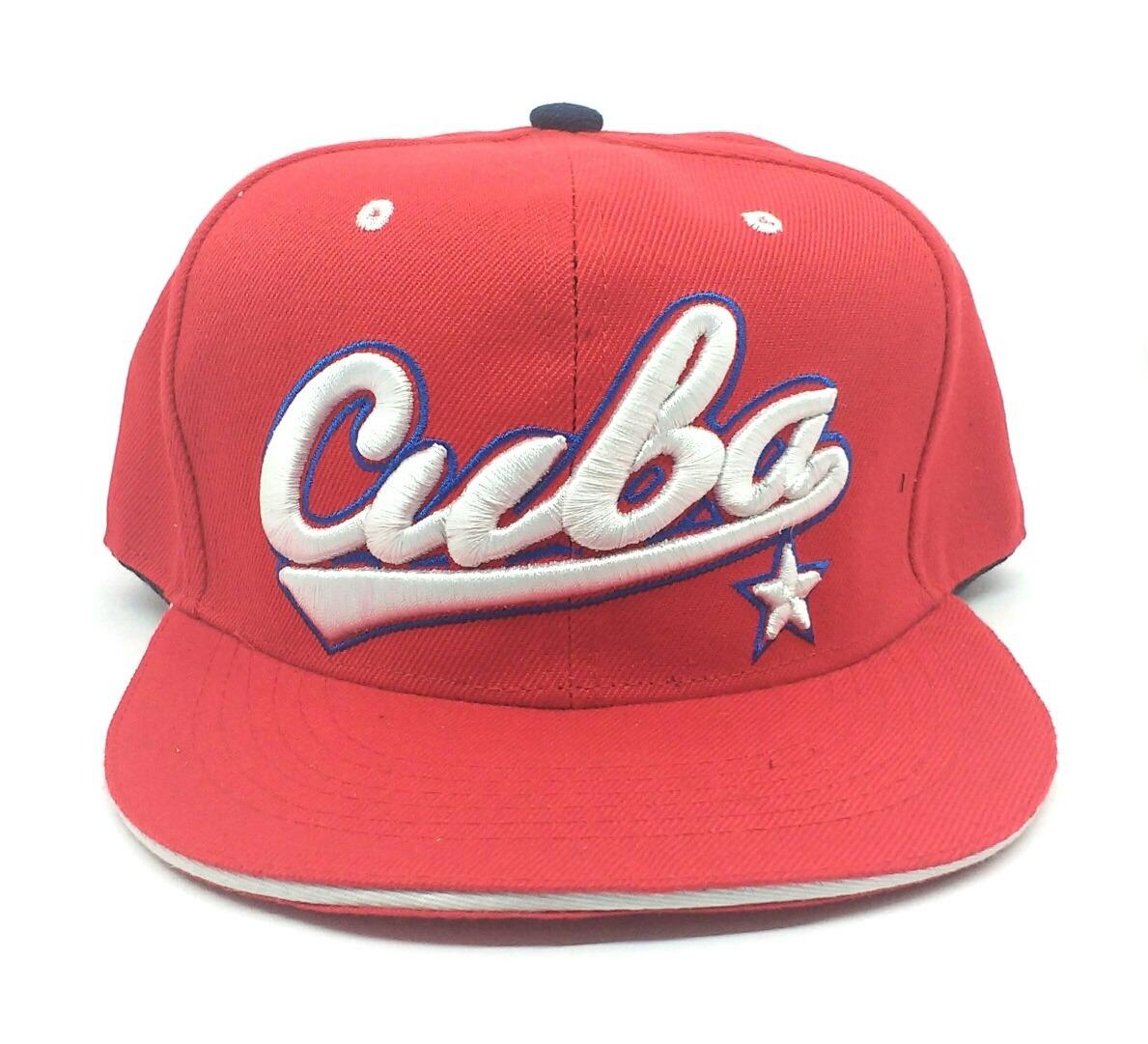 8b6b91a4d0132 Gorra Visera Plana Snapback Calidad Premium Bordada Cuba -   349