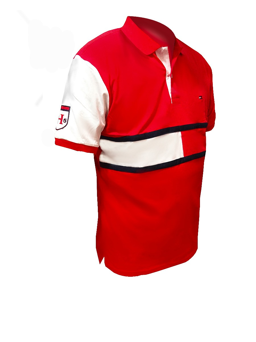 6f5f4d44e4b gorra y camisa polo tommy hilfiger® color rojo talla l. Cargando zoom.