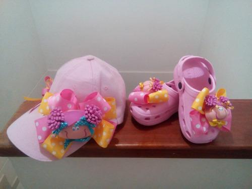 gorra y crocs bebe niñas