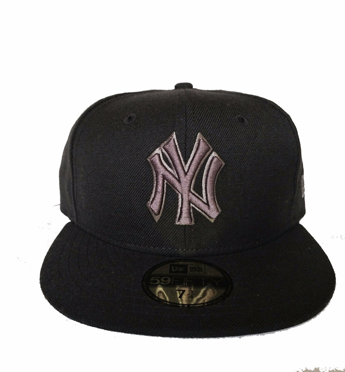 Gorra Yankees Oficial Mlb Negro Gris 7 1 4 -   900.00 en Mercado Libre 6171c6c347b