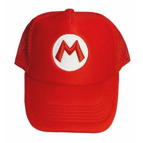 f0330b2a75154 Mario Bros Gorra Bordada Visera Plana Gorras - Accesorios de Moda en ...
