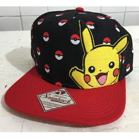 71a851b195a25 Gorra Snapback Original Pokemon Picachu Pokeball