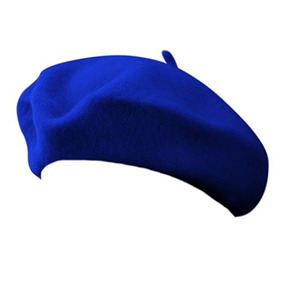 c6f6086520e2d 11 Royal Blue Wool Blend Gorra De Boina De Artista Francesa