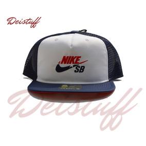 fb6dfb61d5ed0 Gorra Nike Sb Pro Cap Visera Plana Negro Ajustable 822466. Distrito Federal  · Nike Sb   Blanco Con Azul   Tipo Red