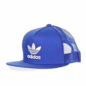 16f886a24b657 Gorra Plana adidas Originals Azul Bk7303 Look Trendy