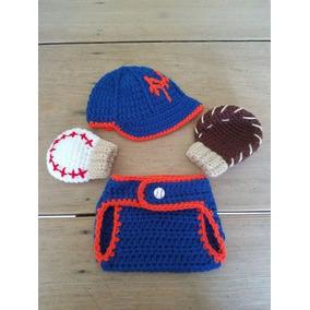 5fb1cc2843263 Gorro De Beisbol Tejido Con Pañalero Y Guantes Para Bebes