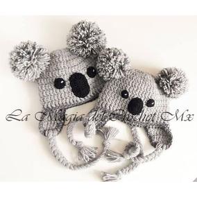 75fb9fae3fd26 Gorros Tejidos En Crochet Para Bebes De Animales - Ropa