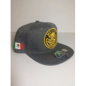 111fe2b63776f Gorra Mexico Escudo Nacional Bandera Snapback Ajusta Gris Os