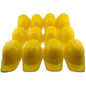 6c0d8671507d2 Adorox 12pcs Construccion Amarillo Sombrero De Plastico Suav