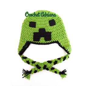 99322afc5c747 Vestuario Gorros Gorro De Lana Creeper Minecraft Echo A Mano en ...
