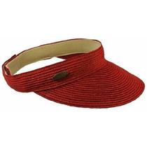 Gorra Cappelli Straworld Papel Braid Visor Sombrero W / Met