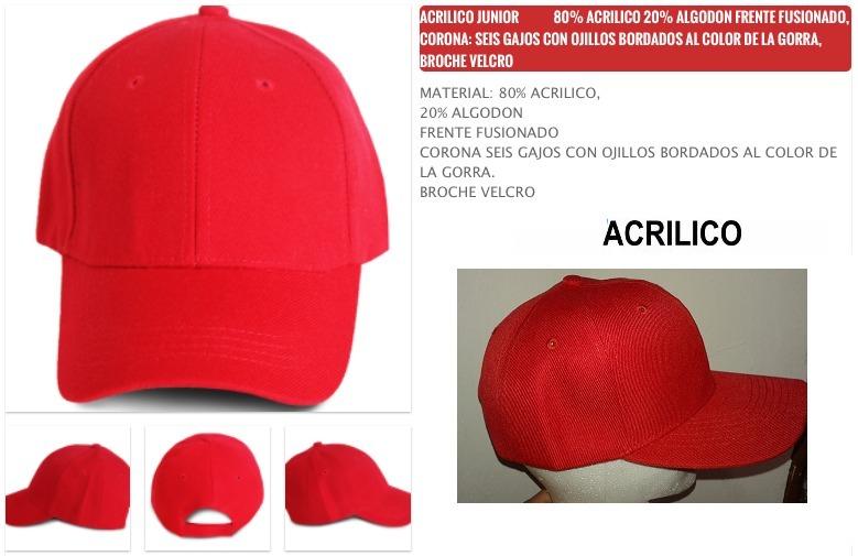 Gorras Acrilico Lisas Para Bordar Mayoreo 10 Pzas -   399.00 en ... d369342664a
