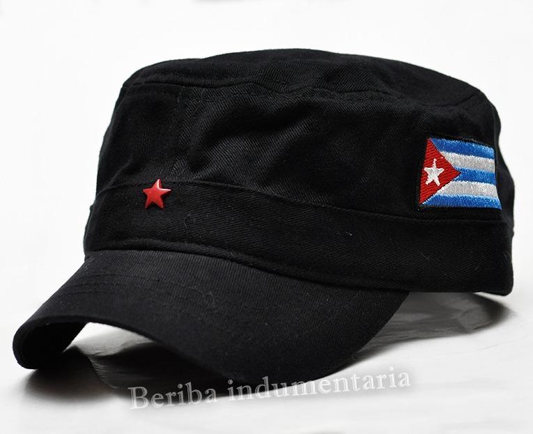 485fd3494589c Gorras Bandera Cuba Bordada Y Estrella Visera Corta Che -   450