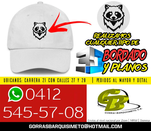 gorras barquisimeto c a   bordados 3d personalizados