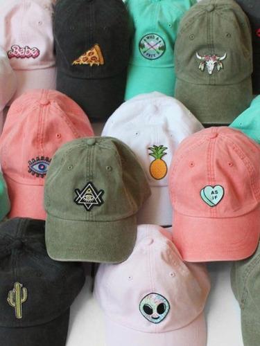 gorras bordadas sencillas paquete de 5 piezas + envío gratis