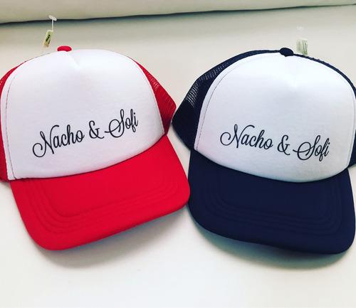 gorras cotillon casamiento cumples personalizadas x mayor