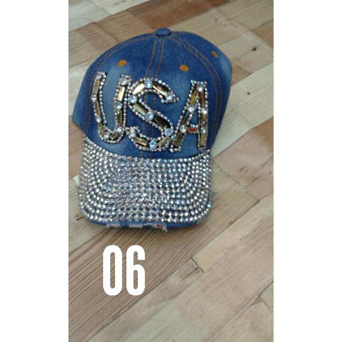 843feec4bb211 gorras de dama jean con aplicaciones en pedrería. Cargando zoom.