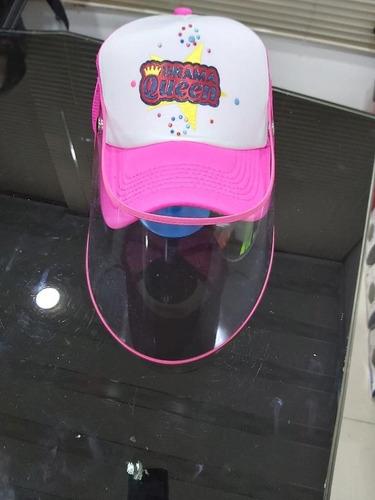 gorras de diseño con mascarilla de acetato