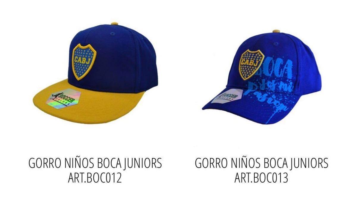 Gorras De Niño Boca Futbol Con Licencia Oficial -   505 6d24526d3fa