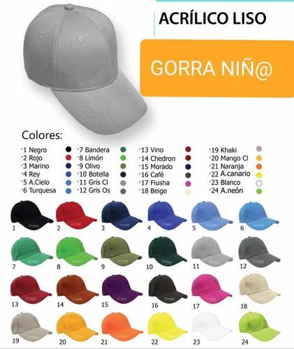 gorras de niño o gorra infantil unisex y unitalla