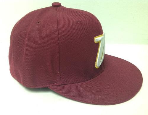 gorras de venezuela modelo 31/ plana/ vinotinto/ cerrada
