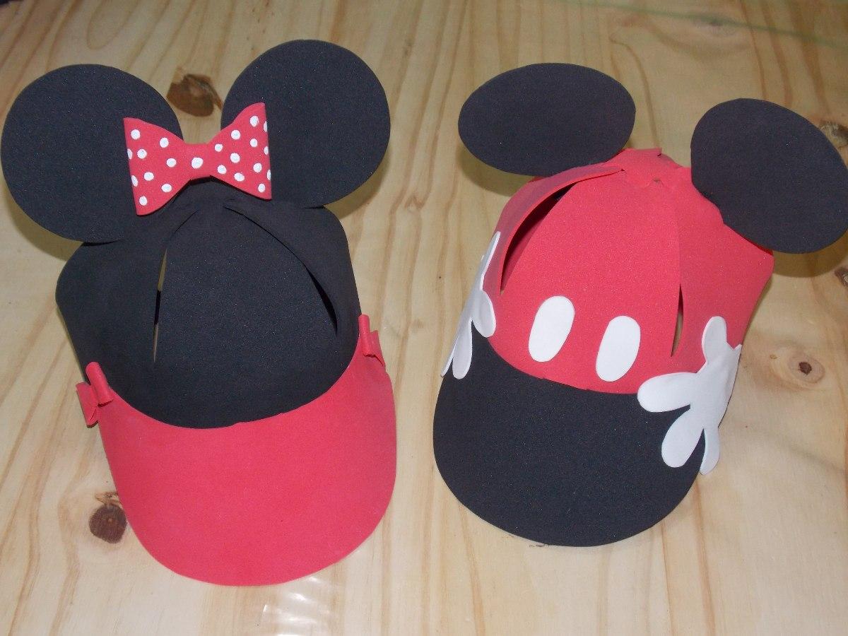 Gorras En Goma Eva De Mickey Y Minnie X 10 Uni -   300 5242809fc44