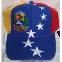 Gorra Tricolor Venezuela Ajustable De Cierre Magico.