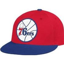 Gorra Cerrada Adidas Nba Philadelphia 76ers Plana Original