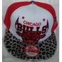 Gorra Chicago Bulls Animal Print Plana Ajustable Broche Roja