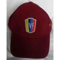 Gorra Venezuela Flex Vino Tinto Futbol Talla Unica.