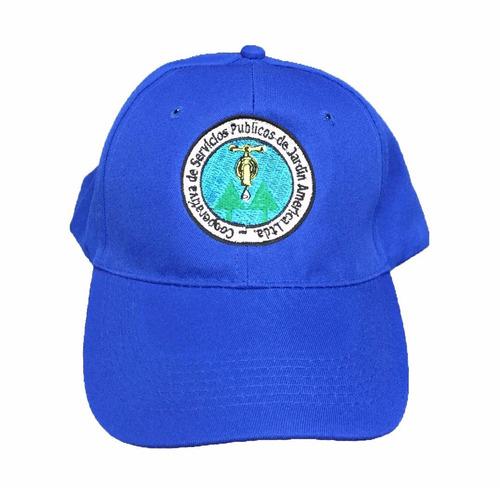 gorras gabardina negras con logo en el frente