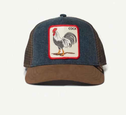 gorras goorin bros granja animale cock gallo 100% originales