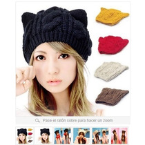 Curioso Gorro De Lana, Estilo Gatito En Stock - Moda Coreana