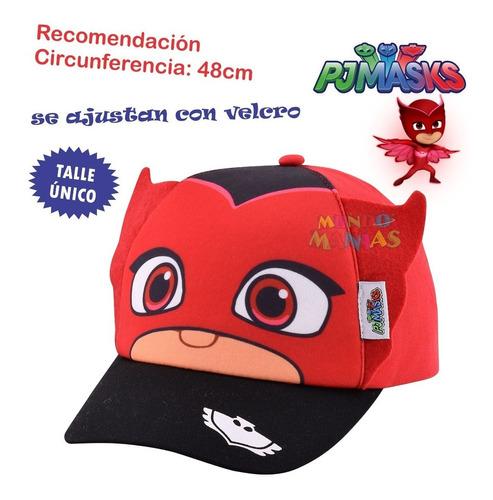 gorras gorros visera pj masks original footy mundo manias