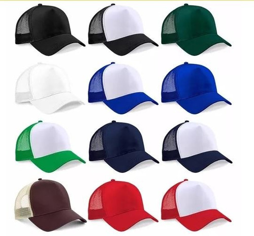 gorras lisas trucker camionera vs colores importada sublimar