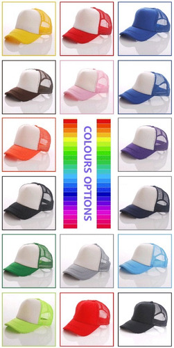 gorras, malla para sublimación tipo camionero, bordado