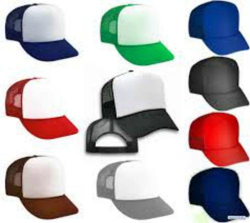 gorras malla para sublimar mayor x 3
