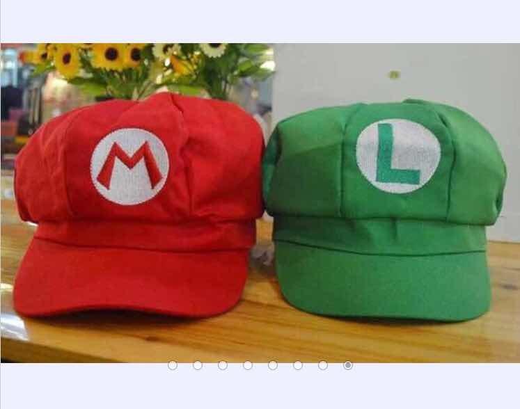b8f59cf83953b Gorras Mario Y Luigi Nintendo 2 Gorros -   439.00 en Mercado Libre