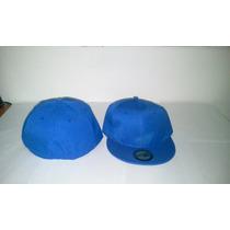 Gorra Plana Azul Rey Cerrada Unicolor