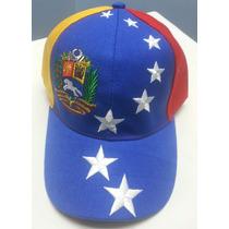 Gorra Venezuela Tricolor Ajustable Bordada Excelente Calidad