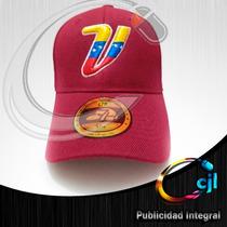 Gorras Vinotinto Con La V Tricolor En Relieve Venezuela
