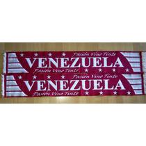 Espectacular Bufanda Venezuela Pasion Vino Tinto Importada